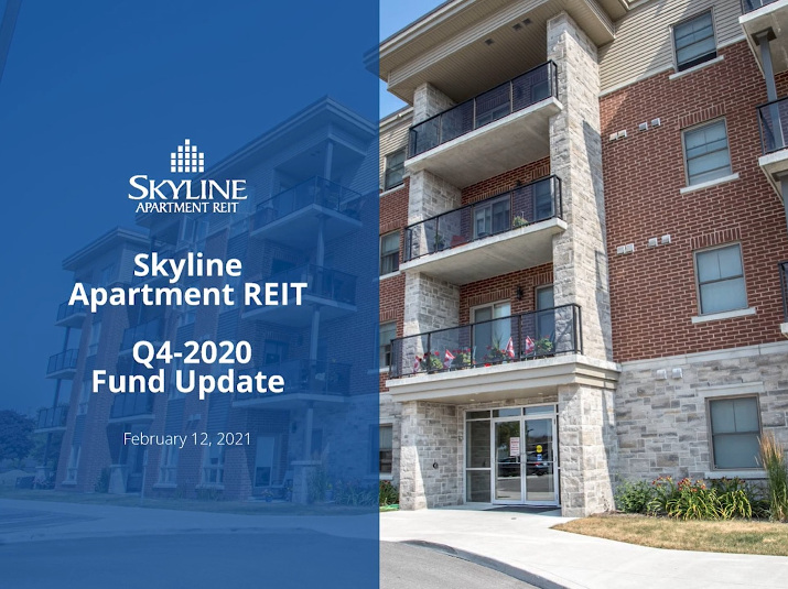 Skyline Apartment REIT - Q4 2020 Fund Update