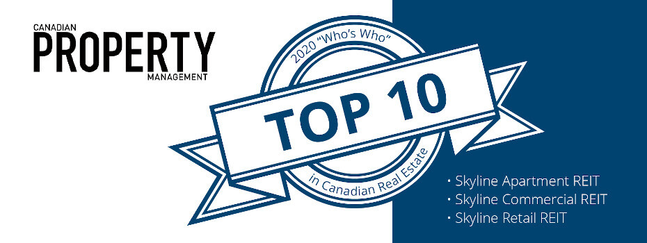 Skyline Ranks in the TOP 10 for Canadian Apartment Magazine's Who's Who 2020