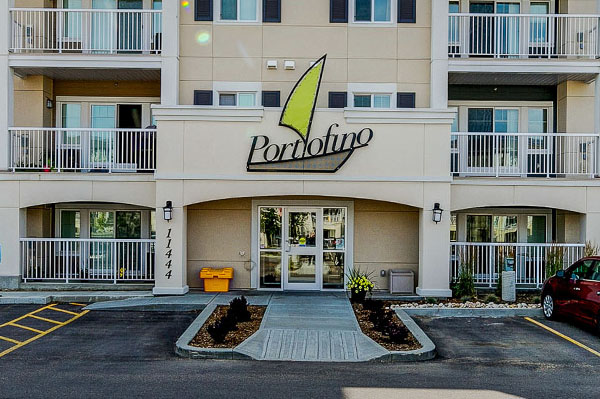 Front view of Portofino Suites